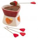 groothandel Keukenapparatuur: Hart van de  chocolade fondue  set  Sweet Heart  ...