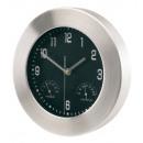 wholesale Clocks & Alarm Clocks: Aluminium wall clock Jupiter with hygrometer and