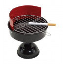 grossiste Cendriers: Cendrier  BBQ  :  design grill, avec grille enlevab
