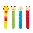 wholesale Decoration: Wooden bookmarks Funny Animals , 4 assorted,