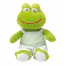 wholesale Dolls &Plush: Plush frog Fred : with soft fur and dungarees (p