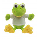 wholesale Dolls &Plush: Plush frog Frieda with soft fur and white T-shir