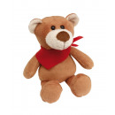 wholesale Toys: Plush bear  Tubbs   with soft fur and red scarf (pa