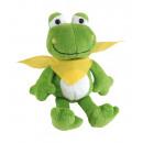 wholesale Dolls &Plush: Plush frog Bernd : with soft fur and yellow scar