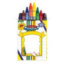 grossiste Materiel de bureau: Set de 8 crayons  de cire  Imagine  dans une boîte