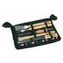 wholesale Barbecue & Accessories: Value Grillbesteck FRIED, black, wood