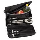groothandel Sport & Vrije Tijd: Picknick Barbecue  Bag  2in1  Kleur Zwart, zilver