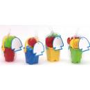 wholesale Outdoor Toys: Sand bucket set   Beach Life  paint color