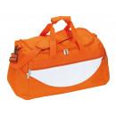 Großhandel Reise- und Sporttaschen: Sporttasche CHAMP, orange, weiß