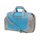 Großhandel Taschen: Sporttasche GYM, grau, hellblau