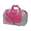 Großhandel Taschen: Sporttasche GYM, grau, pink
