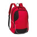 Rucksack CURVE, rot, schwarz