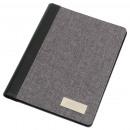 Großhandel Mappen & Ordner: Schreibmappe LINEN im DIN-A5-Format, grau, schwarz