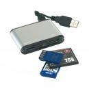 groothandel Accu's, kabels & adapters: Multi-card reader   35in1  Kleur Zwart, zilver