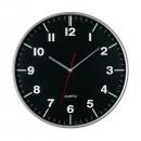 groothandel Klokken & wekkers: Klok HEMERA kleur zwart, zilver