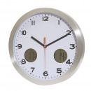 Großhandel Uhren & Wecker: Wanduhr COOL TIME, silber , weiß