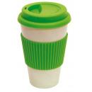 Großhandel Kunstblumen: Kaffee-Becher ECO CUP, apfelgrün