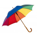 groothandel Paraplu's: Automatische  houten paraplu TANGO regenboog,