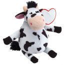 wholesale Dolls &Plush: Plush Cow EDDA, black, white