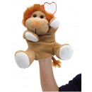 wholesale Dolls &Plush: Plush hand puppet lion KNOX, brown