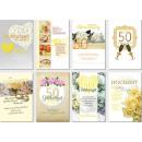 Goldene Hochzeitskarten