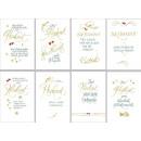 grossiste Cartes de vœux: cartes de mariage  avec feuille d'or