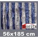 Großhandel Vorhänge & Gardinen: Chenille  Flauschvorhang 56 x 185 cm blau-grau