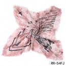 -Vierecktuch-Stier Sterne-Zebra rosa