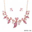Necklace with earrings - rose petals