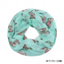 wholesale Scarves & Shawls:Loop butterflies mint