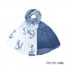 Großhandel Fashion & Accessoires:Schal-Kaper jeansblau