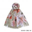 Großhandel Tücher & Schals: Schal-Multi Blumen-glitzerige Streifen