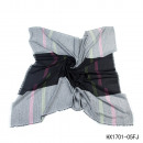 wholesale Scarves & Shawls: Rectangle  2-colored stripes black-gray