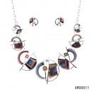 mayorista Cadenas & gargantillas: Conjunto de collar de semicírculos rectángulos.