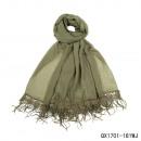 Großhandel Kunstblumen:-Schal  Schneeglöckchen olivgrün