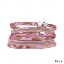 Großhandel Schmuck & Uhren: Wickelarmband  Magnetverschluss Herz pink