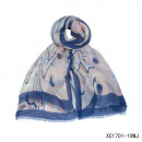 wholesale Fashion & Mode: Scarf-colored waves marine