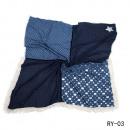 Großhandel Fashion & Accessoires: Vierecktuch-Star jeansblau
