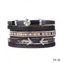 groothandel Sieraden & horloges: Wrap armband  magneetsluiting zwarte pijl