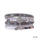 Großhandel Zubehör & Ersatzteile: Wickelarmband  Magnetverschluss Kreis silber
