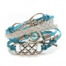 Großhandel Schmuck & Uhren:Armband JX-1 hellblau