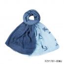 Großhandel Fashion & Accessoires:Schal-Kaper blau