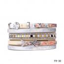 groothandel Sieraden & horloges: Wrap armband  magnetische sluiting arrow wit