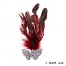 Broche de mariposa de plumas reales