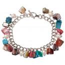 Frischwasserperle und Shell-Armband Perlen-Farbe S