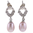 wholesale Jewelry & Watches: Freshwater Pearl Earring Bling Pearl Heart P