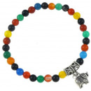 wholesale Pendant: Gemstones Agate Bracelet Mix Elephant