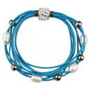 groothandel Sieraden & horloges: Zoetwaterparel  armband Bling Pearl Aqua