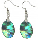 wholesale Earrings: Mother of pearl earring Abalone Light Oval