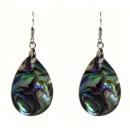grossiste Bijoux & Montres: Abalone larme perle boucle d'oreille